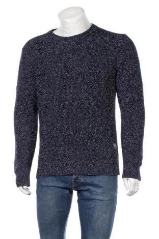Мъжки пуловер Originals By Jack & Jones, Размер M, Цвят Син, 45% акрил, 45% памук, 10% полиамид, Цена 40,95лв.