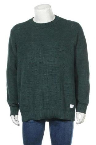 Мъжки пуловер Originals By Jack & Jones, Размер XXL, Цвят Зелен, Памук, Цена 28,56лв.