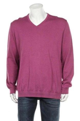 Ανδρικό πουλόβερ S.Oliver, Μέγεθος XXL, Χρώμα Βιολετί, Βαμβάκι, Τιμή 12,99€