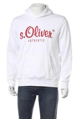 Мъжки суичър S.Oliver, Размер L, Цвят Бял, 80% памук, 20% полиестер, Цена 51,75лв.