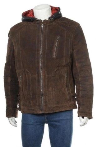 Ανδρικό δερμάτινο σακάκι Angelo Litrico, Μέγεθος XL, Χρώμα Καφέ, Φυσικό σουέτ, Τιμή 57,15€