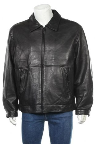 Ανδρικό δερμάτινο σακάκι Kenneth Cole, Μέγεθος L, Χρώμα Μαύρο, Γνήσιο δέρμα, Τιμή 57,80€