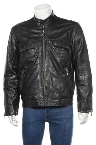 Ανδρικό δερμάτινο σακάκι Tom Tailor, Μέγεθος L, Χρώμα Μαύρο, Γνήσιο δέρμα, Τιμή 82,48€