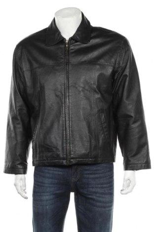 Мъжко кожено яке, Размер S, Цвят Черен, Естествена кожа, Цена 26,46лв.