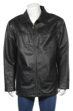 Мъжко кожено яке Angelo Litrico, Размер XL, Цвят Черен, Естествена кожа, Цена 55,44лв.