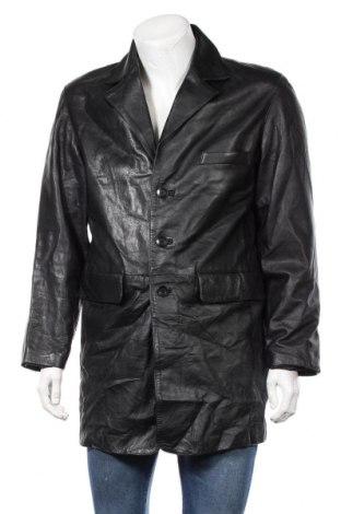 Мъжко кожено яке Angelo Litrico, Размер L, Цвят Черен, Естествена кожа, Цена 51,50лв.