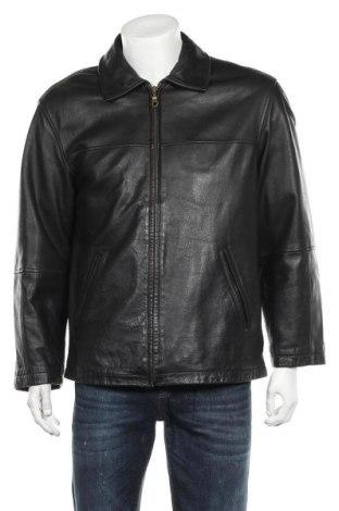 Ανδρικό δερμάτινο μπουφάν Angelo Litrico, Μέγεθος S, Χρώμα Μαύρο, Γνήσιο δέρμα, Τιμή 12,27€
