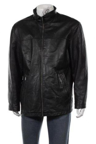 Мъжко кожено яке Angelo Litrico, Размер L, Цвят Черен, Естествена кожа, Цена 20,74лв.