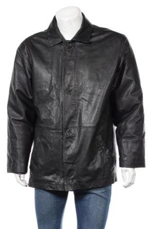 Мъжко кожено яке Barisal, Размер XL, Цвят Черен, Естествена кожа, Цена 17,85лв.