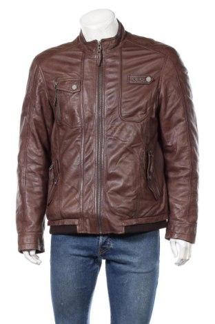 Мъжко кожено яке Bruno Banani, Размер L, Цвят Кафяв, Естествена кожа, Цена 93,45лв.