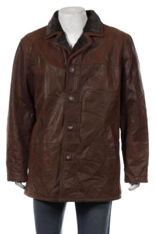 Ανδρικό δερμάτινο μπουφάν CKN Of Scandinavia, Μέγεθος XL, Χρώμα Καφέ, Γνήσιο δέρμα, Τιμή 49,36€