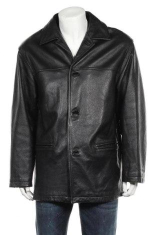 Мъжко кожено яке Danier, Размер L, Цвят Черен, Естествена кожа, Цена 32,05лв.