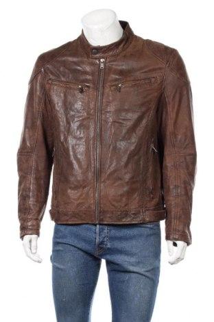 Pánská kožená bunda  Gipsy, Velikost XL, Barva Hnědá, Pravá kůže, Cena  1403,00Kč