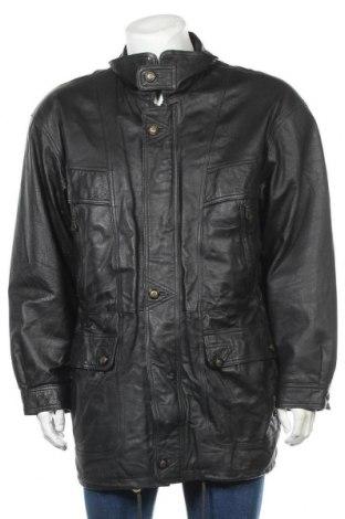 Мъжко кожено яке Man's World, Размер L, Цвят Черен, Естествена кожа, Цена 20,74лв.