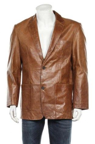 Мъжко кожено яке S.Oliver, Размер XL, Цвят Кафяв, Естествена кожа, Цена 79,80лв.