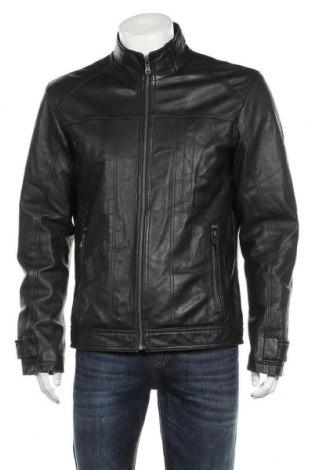 Мъжко кожено яке S.Oliver, Размер L, Цвят Черен, Естествена кожа, Цена 145,95лв.
