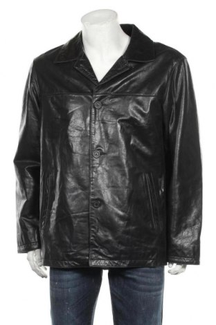 Мъжко кожено яке Strellson, Размер L, Цвят Черен, Естествена кожа, Цена 38,64лв.