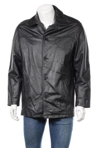Мъжко кожено яке TCM, Размер M, Цвят Черен, Естествена кожа, Цена 75,60лв.