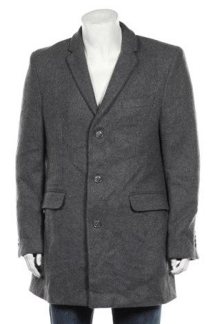 Ανδρικά παλτό, Μέγεθος L, Χρώμα Γκρί, 50% πολυεστέρας, 25%ακρυλικό, 18% μαλλί, 7% πολυαμίδη, Τιμή 46,76€