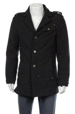 Ανδρικά παλτό, Μέγεθος L, Χρώμα Γκρί, 50% μαλλί, 50% πολυεστέρας, Τιμή 34,42€