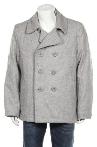 Мъжко палто, Размер XL, Цвят Сив, 70% вълна, 30% полиестер, Цена 28,35лв.