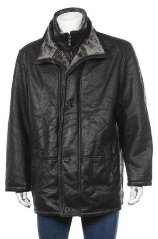Мъжко палто, Размер XL, Цвят Черен, 97% полиестер, 3% полиуретан, Цена 37,47лв.