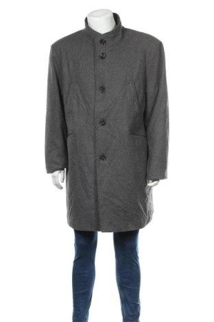 Мъжко палто Angelo Litrico, Размер XXL, Цвят Сив, 49% полиестер, 42% вълна, 6% акрил, 3% полиамид, Цена 43,31лв.