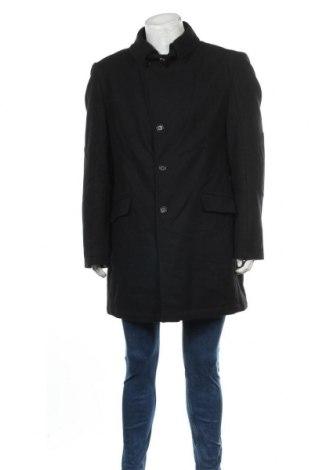 Мъжко палто Angelo Litrico, Размер XL, Цвят Черен, 80% вълна, 20% полиамид, Цена 54,18лв.
