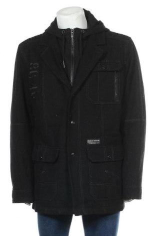 Palton de bărbați Angelo Litrico, Mărime XXL, Culoare Negru, 60% lână, 20% viscoză, 20% poliamidă, Preț 162,47 Lei
