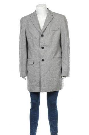 Мъжко палто Angelo Litrico, Размер XXL, Цвят Сив, 60% вълна, 40% полиестер, Цена 36,38лв.