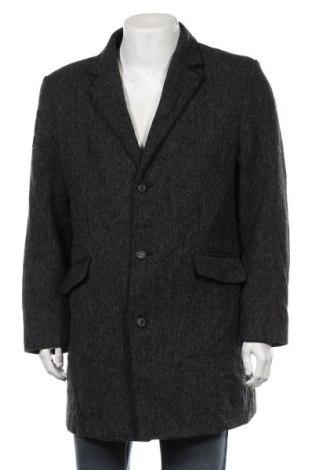 Мъжко палто Angelo Litrico, Размер XL, Цвят Сив, 60% вълна, 35% полиестер, 5% полиамид, Цена 28,67лв.
