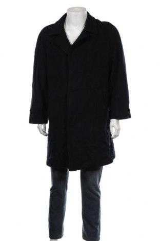Мъжко палто Atwardson, Размер L, Цвят Син, 65% вълна, 20% кашмир, 15% полиамид, Цена 49,14лв.