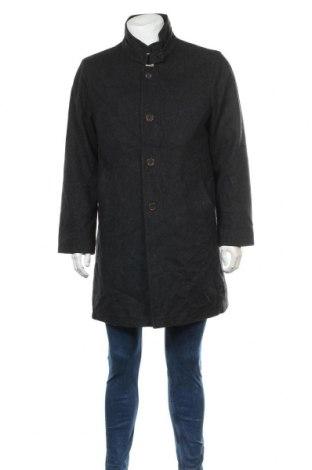 Мъжко палто Bugatti, Размер M, Цвят Сив, 80% памук, 20% полиамид, Цена 61,95лв.