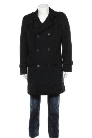 Мъжко палто Cool Water, Размер M, Цвят Черен, 75% вълна, 20% полиамид, 5% други тъкани, Цена 37,80лв.