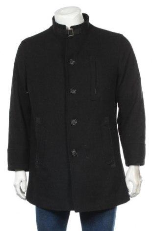 Ανδρικά παλτό DNR, Μέγεθος M, Χρώμα Μαύρο, 50% μαλλί, 50% πολυεστέρας, Τιμή 12,63€