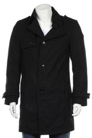 Мъжко палто Drykorn for beautiful people, Размер XXL, Цвят Черен, 90% вълна, 20% полиестер, 20% полиамид, Цена 104,37лв.