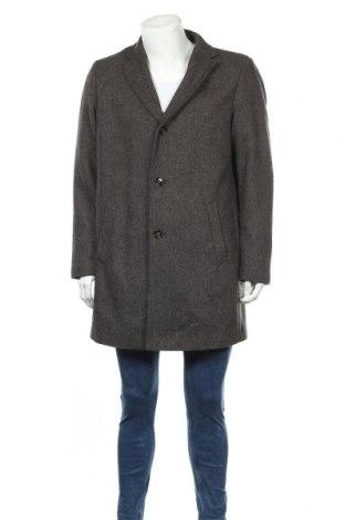 Мъжко палто Duffel&Rums, Размер L, Цвят Кафяв, 50% вълна, 50% полиестер, Цена 30,45лв.