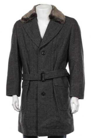 Ανδρικά παλτό Eduard Dressler, Μέγεθος L, Χρώμα Γκρί, Μαλλί, φυσική τρίχα, Τιμή 90,28€