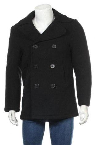 Ανδρικά παλτό H&M L.O.G.G., Μέγεθος L, Χρώμα Μαύρο, 80% μαλλί, 20% πολυαμίδη, Τιμή 40,27€