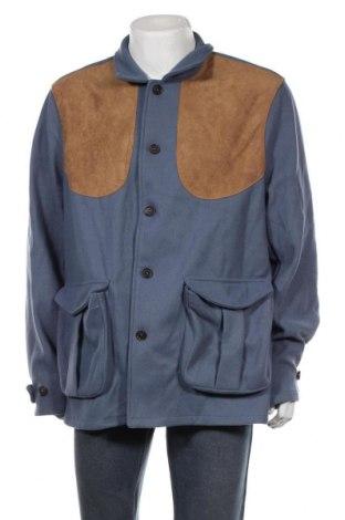 Ανδρικά παλτό Order Plus, Μέγεθος 4XL, Χρώμα Μπλέ, 95% πολυεστέρας, 5% ελαστάνη, Τιμή 36,37€