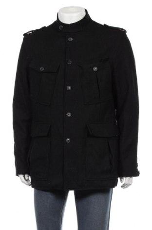 Мъжко палто Selected, Размер XL, Цвят Черен, 55% вълна, 25% полиестер, 20% вискоза, Цена 36,02лв.