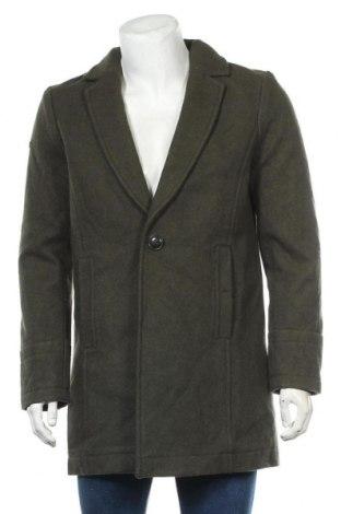 Ανδρικά παλτό Superdry, Μέγεθος XL, Χρώμα Πράσινο, 63% μαλλί, 22% πολυεστέρας, 13%ακρυλικό, 2% πολυαμίδη, Τιμή 88,33€