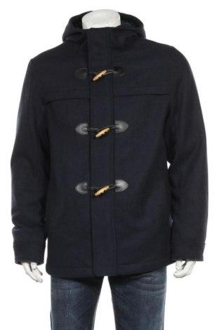 Мъжко палто Tom Tailor, Размер L, Цвят Син, 61% полиестер, 17% вискоза, 11% вълна, 4% полиамид, 4% акрил, 3% памук, Цена 171,75лв.