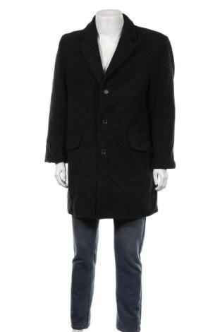Мъжко палто Yorn, Размер L, Цвят Сив, 60% вълна, 40% полиестер, Цена 22,58лв.
