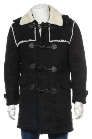 Palton de bărbați Zara Man, Mărime M, Culoare Negru, Poliester, Preț 232,77 Lei