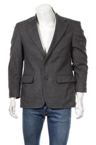 Мъжко сако, Размер S, Цвят Сив, 60% вълна, 20% естествен косъм, 20% полиамид, Цена 9,71лв.
