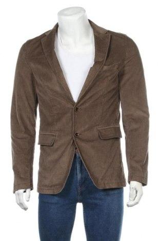 Мъжко сако Benvenuto, Размер M, Цвят Кафяв, 98% памук, 2% еластан, Цена 10,24лв.