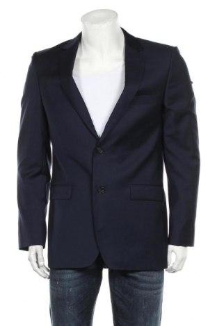Мъжко сако DKNY, Размер M, Цвят Син, Вълна, Цена 54,00лв.