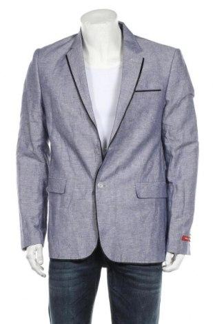 Мъжко сако Feraud, Размер XL, Цвят Син, 50% лен, 50% памук, Цена 30,55лв.