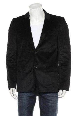 Мъжко сако Guess, Размер M, Цвят Черен, 52% памук, 46% вискоза, 2% еластан, Цена 56,70лв.